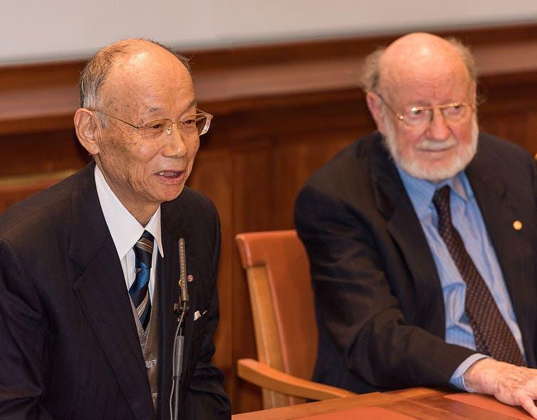 Satoshi Omura and William Campbell.
